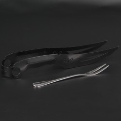 Щипцы 2х2 Hookah Black Knife Gift (коробка)