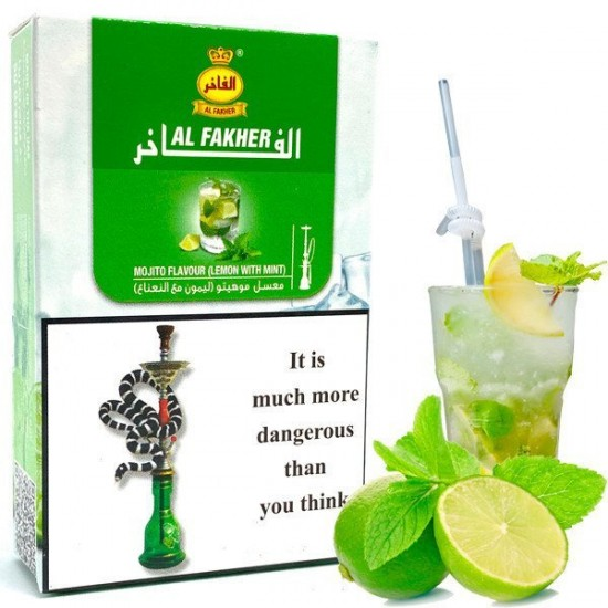 Табак для кальяна AL FAKHER MOJITO FLAVOUR (LEMON WITH MINT) 50 гр