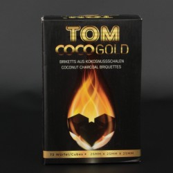 Уголь Tom Coco Gold 1 кг (25х25х25)
