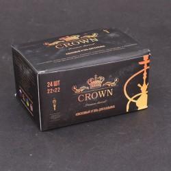 Уголь для кальяна Crown 0,25 кг (22х22)